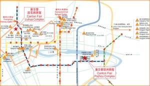 Canton Fair map